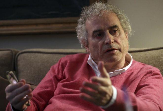 El escritor Ildefonso Falcones, durante su entrevista con EL MUNDO