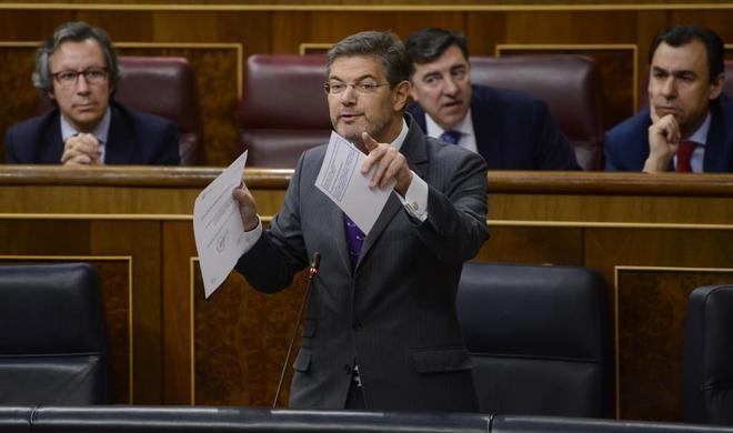 El ministro de Justicia, Rafael Catalá, la pasada semana en el...