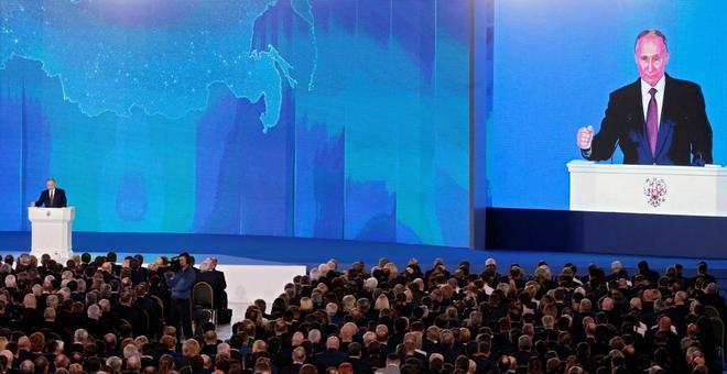 Vladímir Putin pronuncia su discurso anual sobre el estado de la nación ante las dos cámaras.