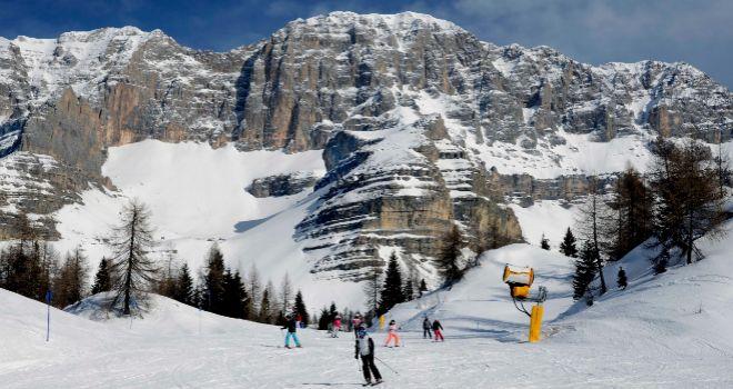La Cima Brenta sobre el descenso del Spinale.