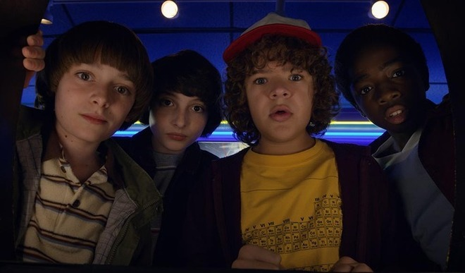Los protagonistas de la serie 'Stranger Things'.