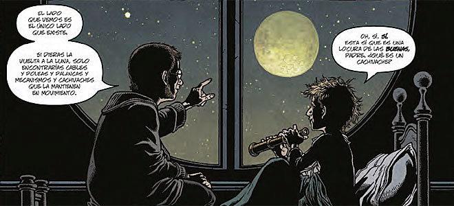 Viñeta de la historia 'Abre la luna', incluida en 'Locke & Key: cielo...