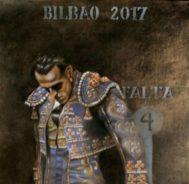Cartel de la Aste Nagusia 2017 con el que se homenajeó al último torero vasco obra del pintor Juan Humaran