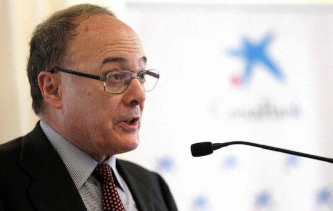 El gobernador del Banco de España, Luis María Linde, durante su comparecencia ayer en Tenerife.