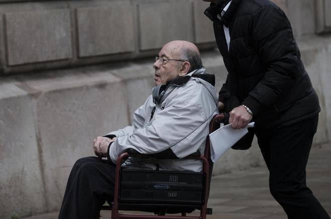 Fèlix Millet acude a escuchar la decisión del juez sobre su encarcelamiento el 5 de febrero