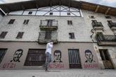Pintadas en Alsasua con las caras de los tres detenidos