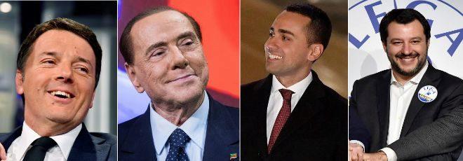 Los protagonistas de la cita electoral en Italia
