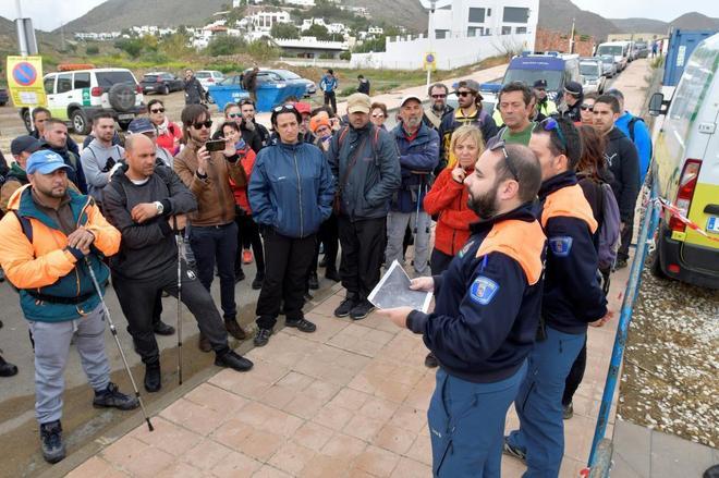 Dispositivo de búsqueda de Gabriel Cruz, el niño de 8 años desaparecido en Níjar (Almería), reanudado hoy en el paraje de las Horticuelas en Nijar (Almeria).