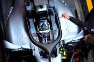 El Mercedes de Valtteri Bottas, en el Circuito de de Cataluña.