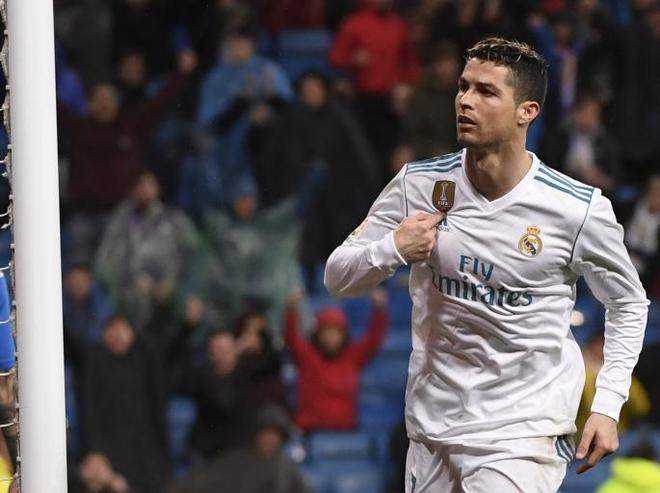 Cristiano Ronaldo, celebrando uno de sus goles ante el Getafe.