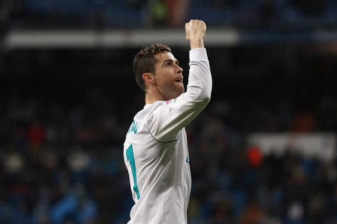 Cristiano, celebrando su segundo gol ante el Getafe.