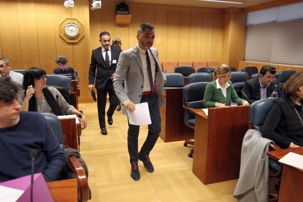 Alejandro de Pedro, en la Comisión de investigación sobre corrupción de la Asamblea de Madrid.