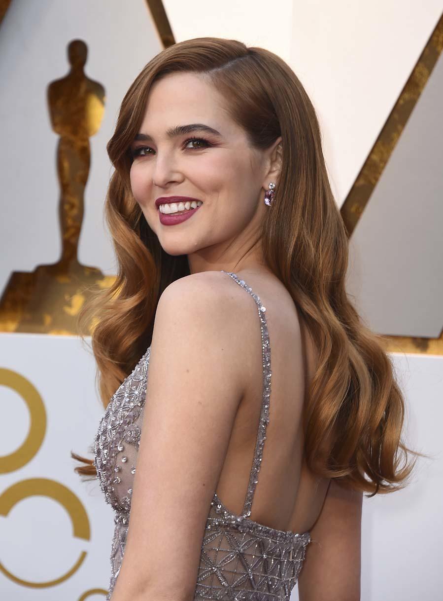 La actriz ha apostado por centrar toda la atención del maquillaje en...