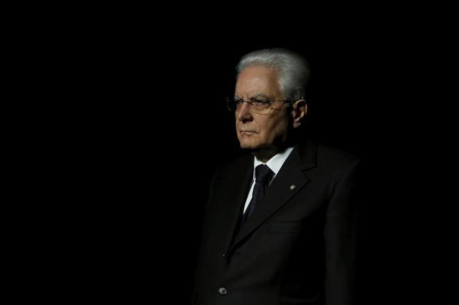 El presidente italiano, Sergio Mattarella.