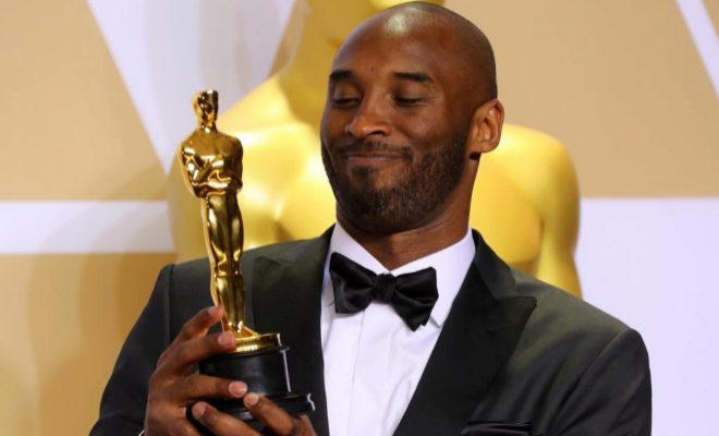 Kobe Bryant, tras recibir el Oscar al mejor corto de animación.