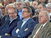 Felip Puig, Artur Mas y Jordi Pujol durante un acto de CDC