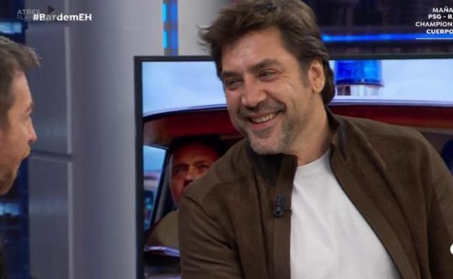Javier Bardem, anoche en 'El hormiguero'.