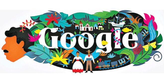 El doodle de Google dedicado a Gabriel García Márquez