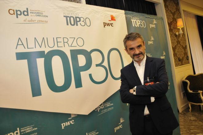 Enrique Sánchez, presidente de AdeccoGroup,en la conferencia ayer en Sevilla