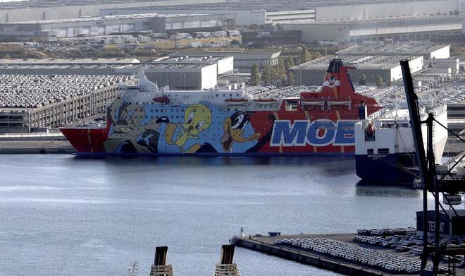 Barco de Piolín, atracado en el puerto de Barcelona