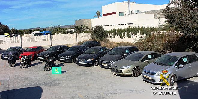 Vehículos de alta gama intervenidos en la operación Aldraba.