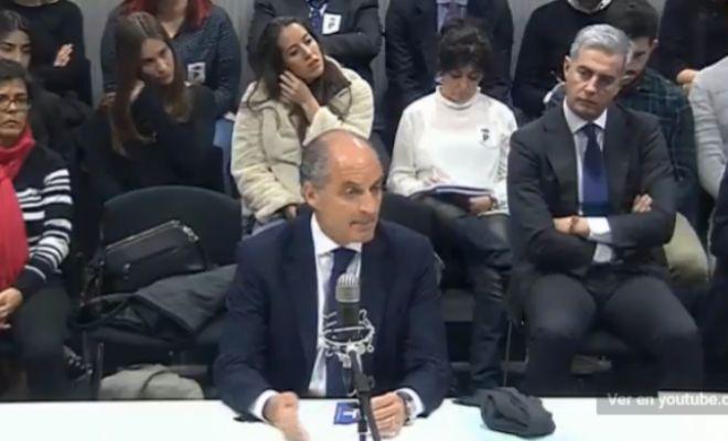 El ex presidente valenciano Francisco Camps, en un momento de su declaración en el juicio de 'Gürtel'.