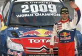 El piloto francés tras ganar el Rally de Gran Bretaña, en Gales, en...