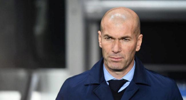 Zinedine Zidane, durante el encuentro de vuelta ante el PSG.
