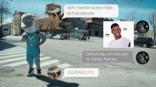 Frame del vídeo de contestación del 'Estu' al 'Fuenla'.