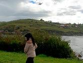 Un helicóptero trabaja en las labores de búsqueda de Concha en la...