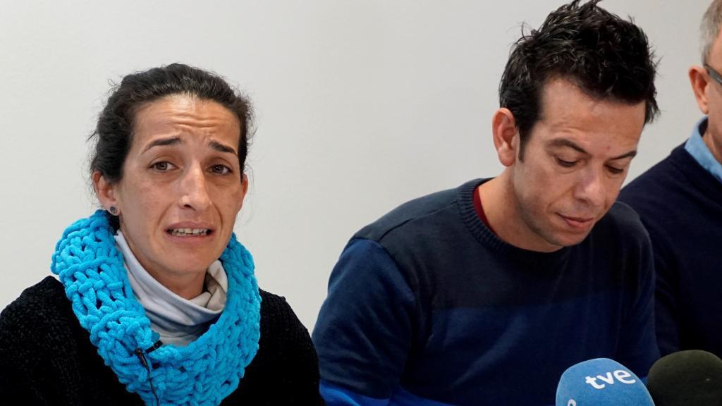atricia Ramírez y Ángel Cruz, los padres del niño Gabriel desaparecido en el paraje de las Horticuelas en Nijar (Almeria), comparecen ante los medios hoy para dar las gracias a la ciudadanía por su colaboración.