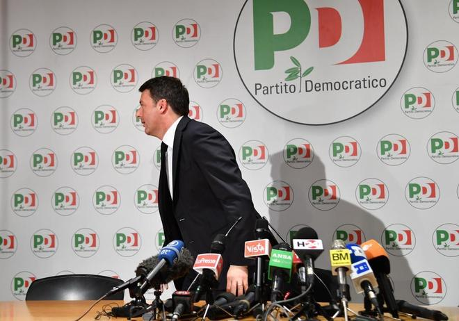 El ex primer ministro y ex líder del Partido Demócrata, Matteo Renzi, en Roma.