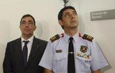 Pere Solé y Josep Lluís Trapero durante una comparecencia pública...