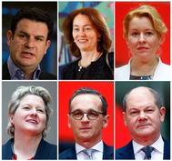 El nuevo equipo de ministros del Partido Socialdemócrata Alemán en el gobierno de Merkel.