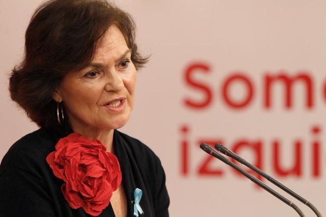 La secretaria del Área de Igualdad, Carmen Calvo