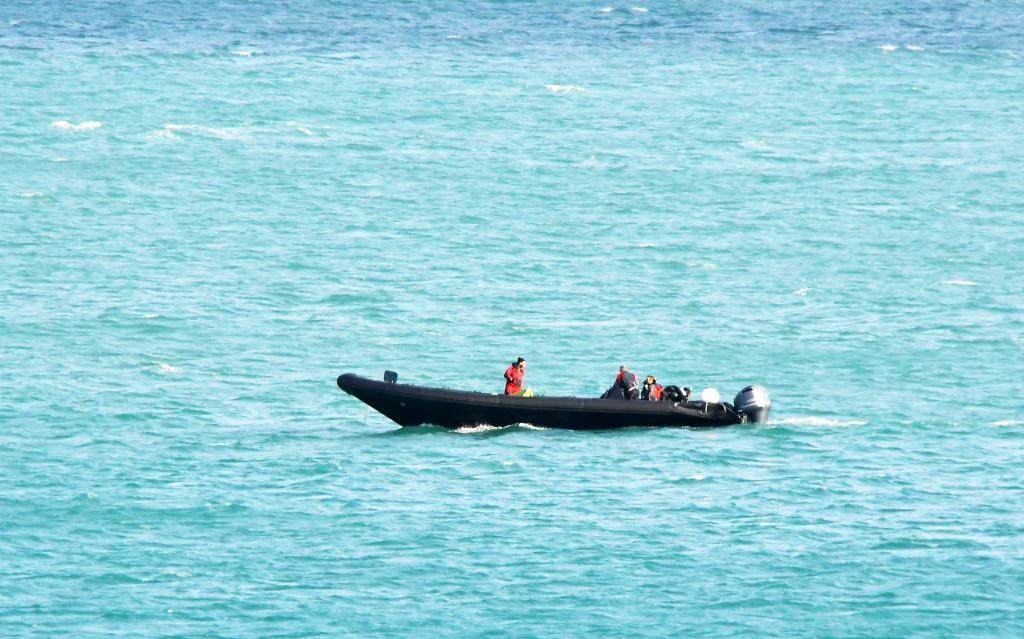 Narcolancha en pleno mar durante una de sus entregas de droga en La...