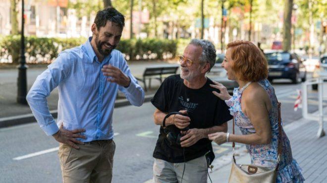 b8002850a Paco León, Fernando Colomo y Carmen Machi en el rodaje de 'La tribu'.