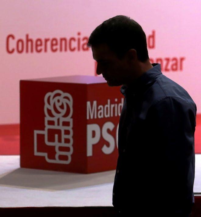 Un cabizbajo Pedro Sánchez, el pasado octubre, durante el congreso regional del PSOE de Madrid.
