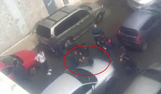 Momento de la detención de Ana Julia Quezada
