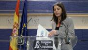 Irene Montero, portavoz de Podemos, durante un acto en el Congreso de...
