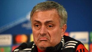 Jose Mourinho, durante la rueda de prensa previa al encuentro ante el...