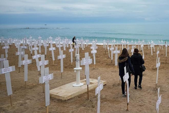Homenaje a las muertas por violencia de género desde el año 2007 en...