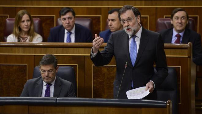 Mariano Rajoy, durante un Pleno del Congreso el pasado febrero.