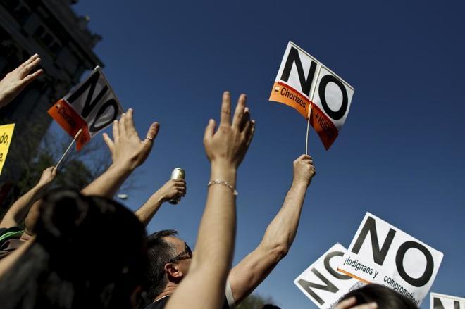 Manifestación con motivo del segundo aniversario del 15M para...