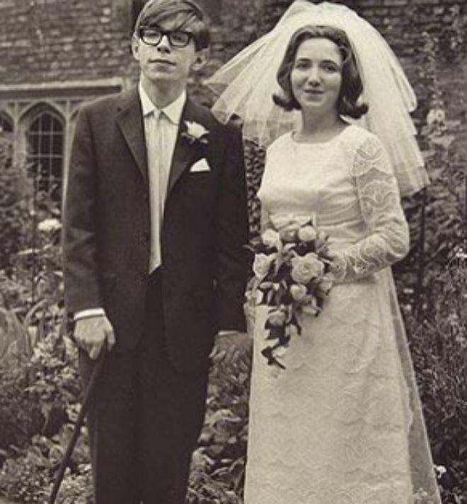 Hawking, el día de su primer matrimonio en 1963.