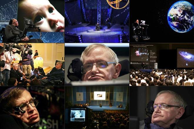 Stephen Hawking, en sus distintas conferencias por todo el mundo.