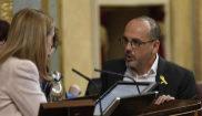 El portavoz del PDeCAT, Carles Campuzano, charla este miércoles con...