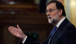 Mariano Rajoy, durante su intervención este miércoles en el...
