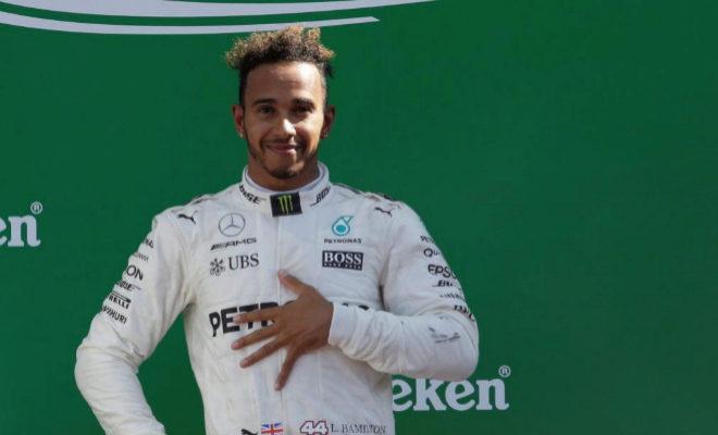 Lewis Hamilton en el podio de Monza'17. / Max Rossi / REUTERS