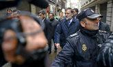 Mariano Rajoy, ayer, minutos antes de su comparecencia sobre las...